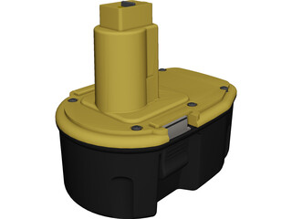 DeWALT 14.4v Battery CAD 3D Model