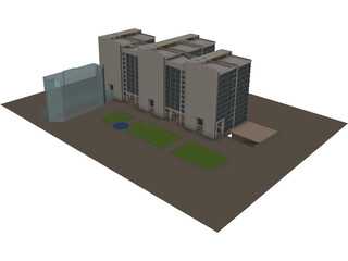 Ecology Commerce Building 3D Model