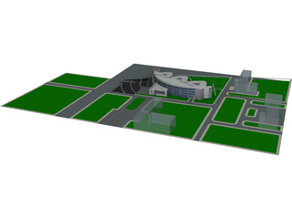 Circular Glistens Leisure Center 3D Model