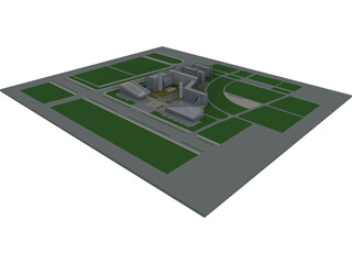 Industrial Park Area 3D Model