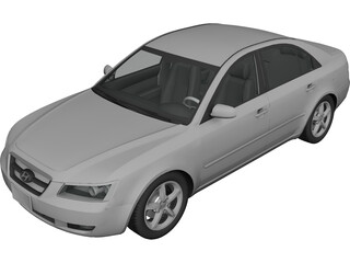 Hyundai Sonata (2007) 3D Model