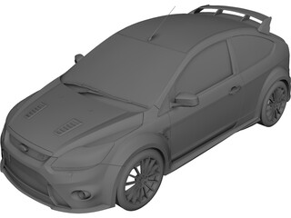 Ford Focus RS (2009) 3D Model