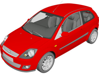 Ford Fiesta (2006) 3D Model 3D Preview
