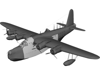 Sunderland Mk III Flying Boat 3D Model