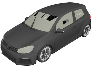 Volkswagen Golf VI GTR 3D Model