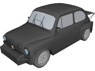 Fiat Abarth 1000TC 3D Model
