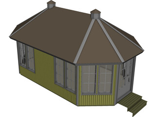 Summerhouse 3D Model