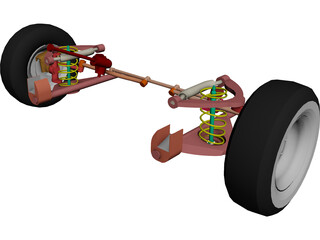 Chevrolet Front Suspension 3D Model