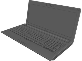 HP Laptop Pavilion dv6 CAD 3D Model