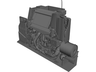 Engine Durmax Turbo Diesel 6.6 3D Model