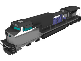 GE Dash 9-CW44 Locomotive CAD 3D Model