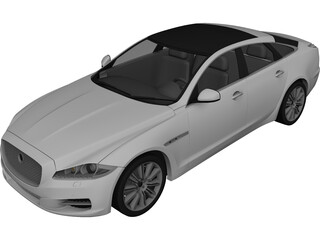 Jaguar XJ (2010) 3D Model 3D Preview