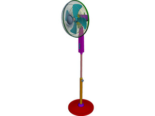 Leggy Fan CAD 3D Model