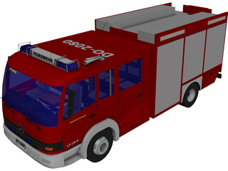 LF 16/12 Germany Firetruck 3D Model