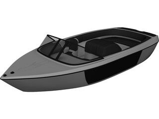 Fast Tender Boat 3D Model
