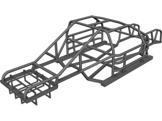NASCAR Chassis 3D Model 3D Preview