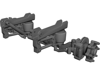 Suspension Front Truck CAD 3D Model