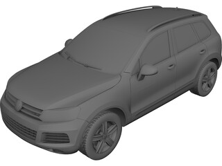 Volkswagen Touareg (2010) 3D Model 3D Preview