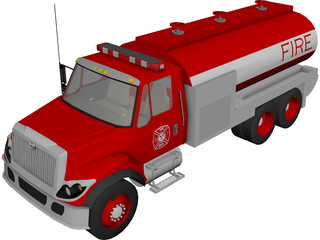 Fire Department Tanker 3D Model