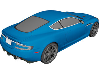 Aston Martin DBS 3D Model 3D Preview