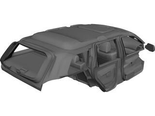 Jeep Grand Cherokee SRT 8 Interior (2008) 3D Model