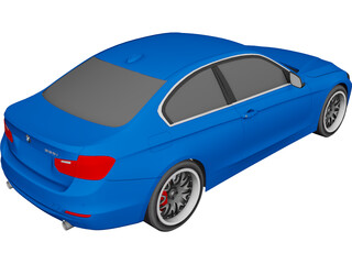 BMW 335i F30 Coupe 3D Model 3D Preview