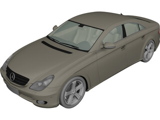 Mercedes-Benz CLS500 (2004) 3D Model 3D Preview