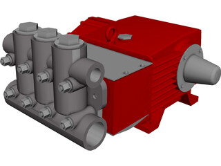 High Pressure Pump CAD 3D Model