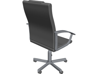Leather Office Chair CAD 3D Model