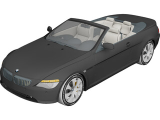 BMW 6-Series Convertible 3D Model