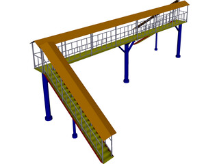 Passer Bridge CAD 3D Model