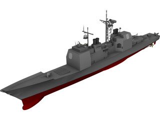 Ticonderoga Class Cruiser 3D Model