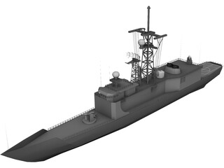 Hazzard Perry Class Frigate 3D Model