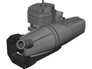 RC OS Engine AX35 3D Model