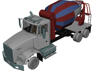 Kenworth T800 Mixer Truck 3D Model