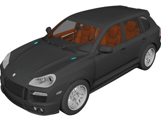 Porsche Cayenne Turbo S (2009) 3D Model