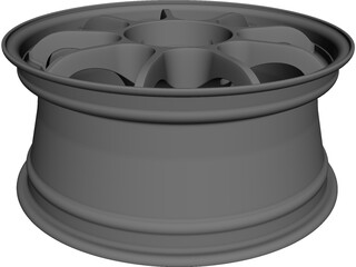 OZ Racing Rim CAD 3D Model
