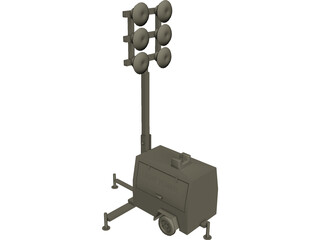 Light Tower CAD 3D Model