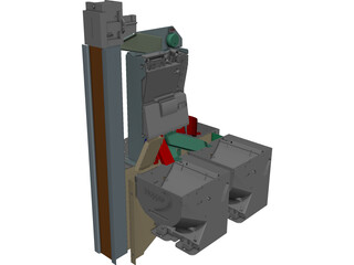 Coin Acceptor CAD 3D Model