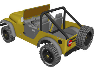 Jeep Wrangler CAD 3D Model