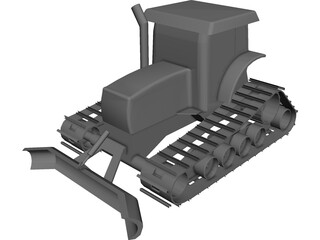 Gilbert Snowgroomer CAD 3D Model