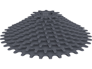 Rear Cassette 10-speed 11-38 CAD 3D Model
