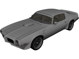 Pontiac Firebird Trans Am SD-455 (1973) 3D Model