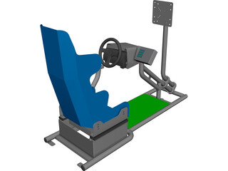 Racing Simulator CAD 3D Model