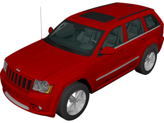 Jeep Grand Cherokee SRT8 (2009) 3D Model