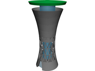 Water Tower Moglingen 3D Model