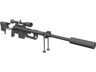 CheyTac M-200 Intervention 3D Model