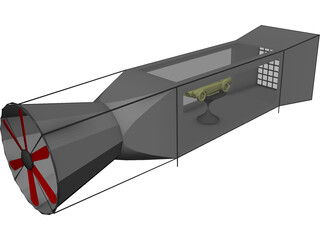 Wind Tunnel 3D Model