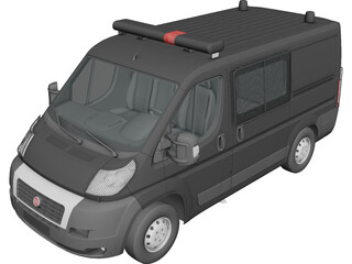 Fiat Ducato Police 3D Model 3D Preview