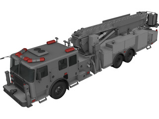 LaFrance Fire Truck 3D Model